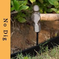Mr Garden Landscape Edging Kit No Dig 40ft Length With 8 Spikes Pe Plastic Landscape Edging
