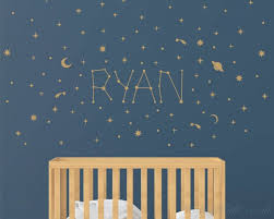 Personalized Name And Galaxy Stars Nursery Wall Decal
