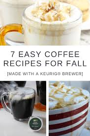 hot coffee recipes for fall made with