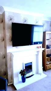 hide wires wall mounted tv fireplace