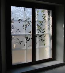 etched glass shutters depicting a
