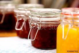 gl jars with homemade marmalade or