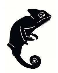 Chameleon Vinyl Sticker Black
