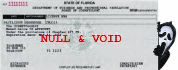 null and void florida cosmetology