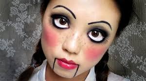 easy makeup creepy cute doll