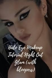 halo eye makeup tutorial night out