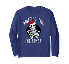 christmas skeleton funny santa hat xmas