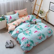 wewish pink blue duvet cover set animal