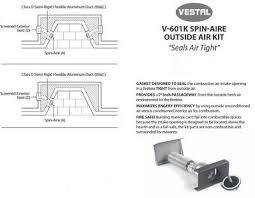 masonry fireplace outside air kit