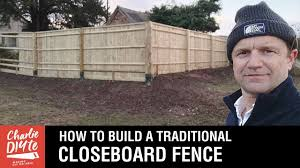 How To Build A Traditional Closeboard Fence Youtube