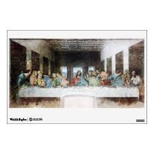 The Last Supper By Leonardo Da Vinci Wall Decal Zazzle Com