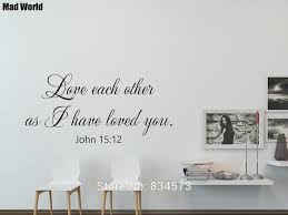 John 15 12 Love Each Other Bible Verse Scripture Wall Art Stickers Wall Decals Home Diy Decoration Removable Decor Wall Stickers Wall Stickers Aliexpress