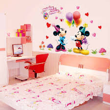 Mickey Mouse And Minnie Children Boys Girls Bedroom Wall Decals Sticker 602 Kids Nursery Room Decor Mural Removable Wall Decals Stickers Decoration Muraledecal Sticker Aliexpress