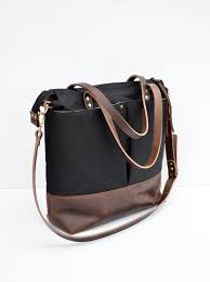 waxed canvas bag leather diaper bag