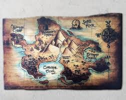 Hand Painted Neverland Map Etsy In 2020 Neverland Map Map Wall Art Decor Flower Map