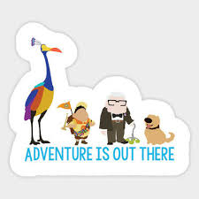 Adventure Is Out There Up Movie Disney Vinyl Decal Sticker Laptop Car Bumper Ebay