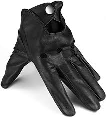 thin black leather gloves mens