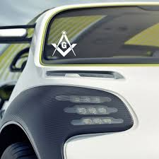 Car Styling Masonic Freemason Decal Sticker Compass Square Car Truck Emblem White Black Buy 2 Get 1 Extra Wish