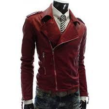 asymmetrical zipper style faux slim fit