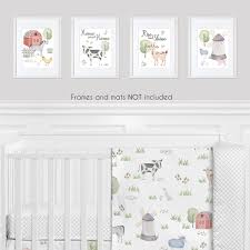 Farm Animals Wall Art Prints Room Decor For Baby Nursery And Kids By Sweet Jojo Designs Set Of 4 Watercolor Farmhouse Horse Cow Sheep Pig Home Sweet Home Only 29 99