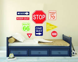 Wall Decals Stickers Home Garden Wall Decal For Home Bedroom Traffic Signals Decor Keep Out Stop One Way Signs Adrp Fournitures Fr