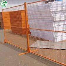 China Canada Standard Free Standing Powder Coated Portable Fence China Canada Free Standing Fence Construction Site Fence