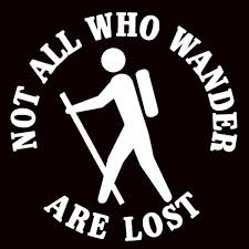 Not All Who Wander Are Lost Car Decal White Only K2 Mountain Gear