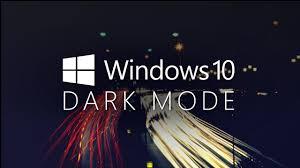 enable the dark theme in windows 10