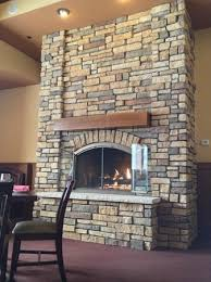 fireplace at copper falls steakhouse