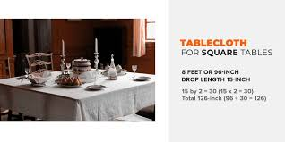 what size tablecloth for 8 foot table
