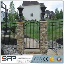 Grey Slate Cultured Stone Gate Post Ledge Stone Stone Veneer Corner Stone From China 508553 Stonecontact Com