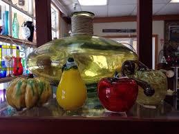 large decorative vase and glass fruit