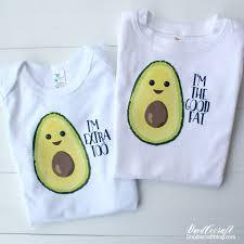 Avocado Baby Bodysuit Onesies With Cricut