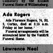 Ada F Rogers obituary - Newspapers.com