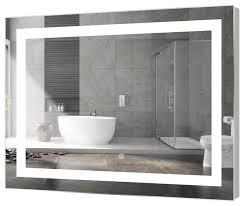 kent rectangular led mirror with sensor