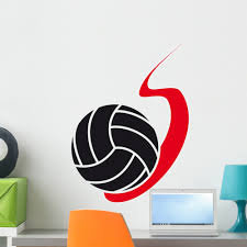 Volleyball Fire Wall Decal By Wallmonkeys Peel And Stick Graphic 24 In H X 18 In W Wm200253 Walmart Com Walmart Com