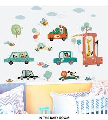 Cartoon Cars Wall Sticker Baby Room Stickers Kids Room Decoration Cute Stickers Self Adhesive Home Decor Bedroom Wall Decor Wall Stickers Aliexpress