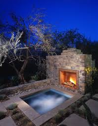 hot tubs rustic pool and faux stone