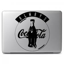 Always Coca Cola Soft Drink Soda Pop Logo Apple Macbook Air Pro 11 13 15 17 Vinyl Decal Sticker Dreamy Jumpers