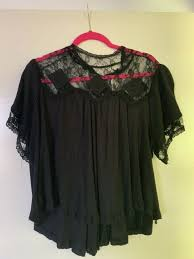 ob797547 tee rib knit lace black size