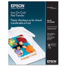 Epson Letter A Size 8 5 In X 11 In 10 Pcs Iron On Transfers For Ecotank Et 3600 Expression Et 3600 Expression Home Xp 434 Workforce Et 16500 Wf 2750 Walmart Com Walmart Com