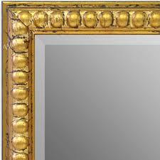 gold leaf beads small custom wall mirror