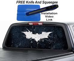 Dark Knight Rises Batman Rear Window Graphic Decal Sticker Ohiowraps