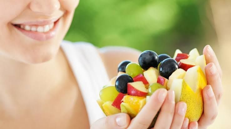 Image result for women eating fruits""