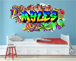 Personalized Graffiti Style Name Brick Wall Sticker Art Mural Decal Snp39 For Sale Online Ebay