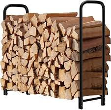 amagabeli 4ft firewood rack outdoor log