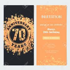 Invitacion Del Aniversario De 70 Anos Al Ejemplo Del Vector Del