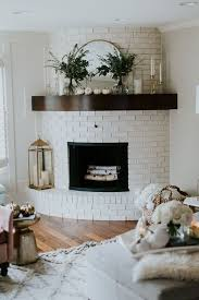 a curved fireplace decorate in brass