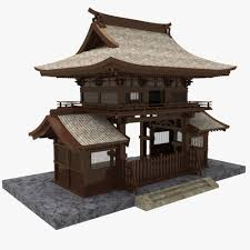 3dsmax Asian Gate Ancient Japanese Architecture Asian House Asian Architecture