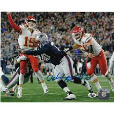 ADAM BUTLER NEW ENGLAND PATRIOTS ACTION SIGNED 8x10